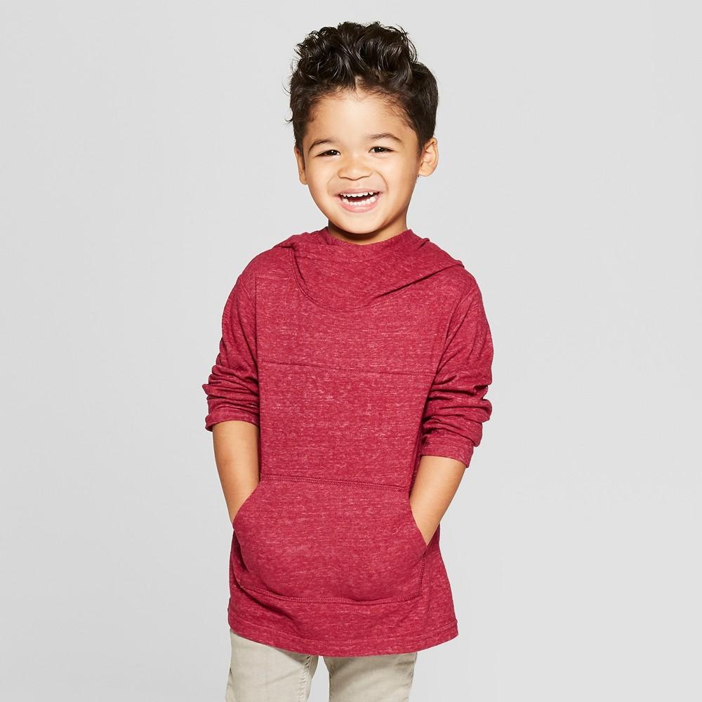 Toddler Boys' Shawl Hoodie Sweatshirt - Cat & Jack Red 2T