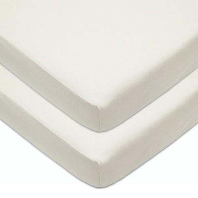 TL Care Baby Fitted Crib Sheet 2pk Sandstone