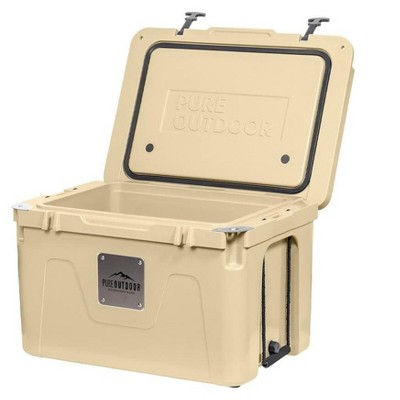 Monoprice Emperor Cooler - 80 Liters - Tan | Securely Sealed, Ideal for The Hottest and Coldest Conditions - Pure Outdoor Collection