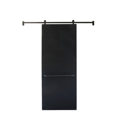 82.5  x 5.5  Metal Chalkboard On Sliding Bar Black - 3R Studios