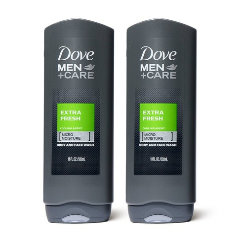 Dove Men+Care Extra Fresh Micro Moisture Cooling Body Wash - 18 fl oz/2pk - image 1 of 4