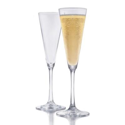 Libbey Vina Trumpet Champagne Flutes 6.5oz - Set of 6