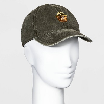 Women's Smokey the Bear Baseball Hat - Olive One Size