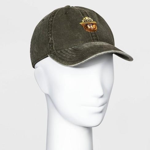 Women's Smokey the Bear Baseball Hat - Olive One Size - image 1 of 2
