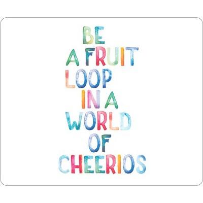 OTM Quotes Prints White Mouse Pad, Fruit Loop - Fruit Loop - White - Rubber Base - Slip Resistant