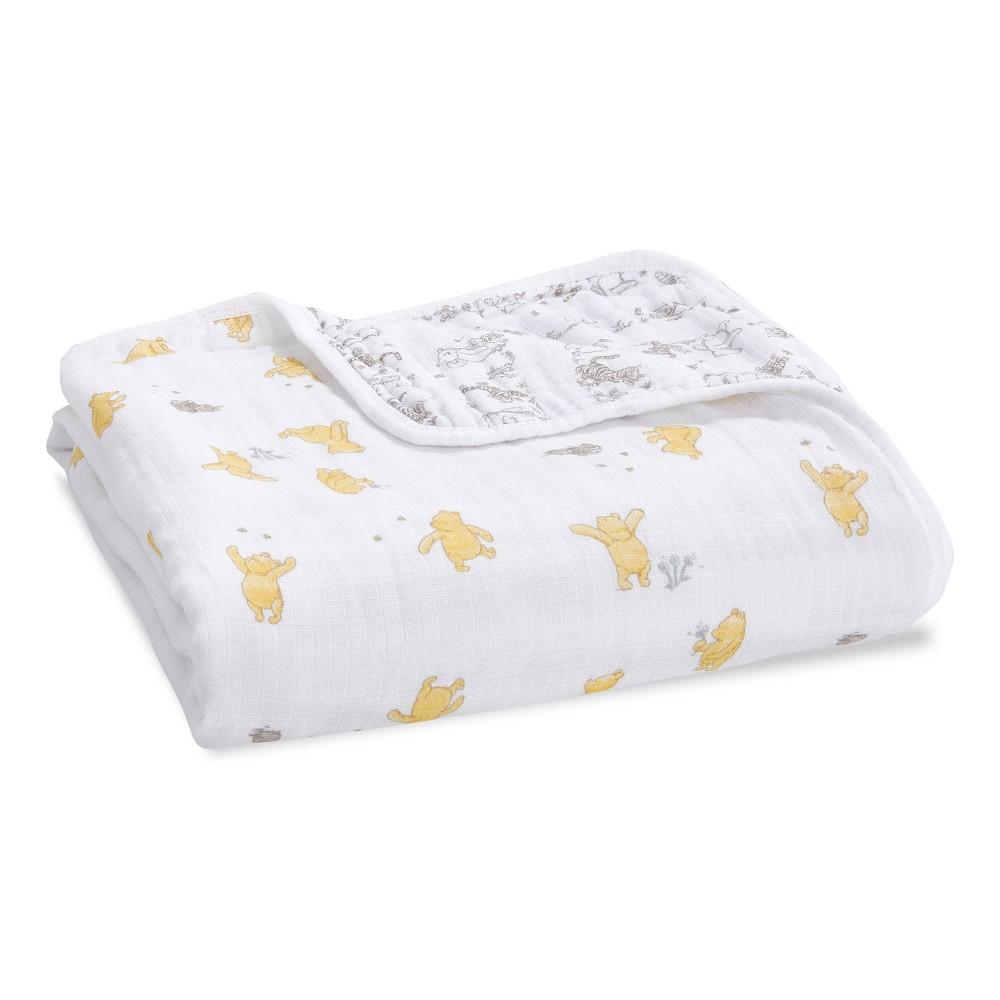 Image of Aden + Anais Essentials Disney Baby Muslin Blanket - Winnie Friends Dandelions