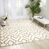 Nourison Galway Ivory/Chocolate Shag Area Rug - image 2 of 4