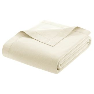 Micro Fleece Blanket (Full/Queen) Ivory