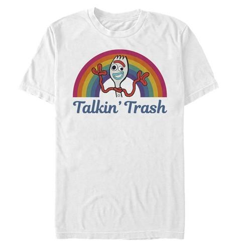Men's Toy Story Forky Talkin' Trash Rainbow T-Shirt - image 1 of 2
