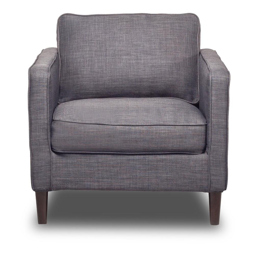 Image of Hamilton Chair Flannel Gray - Sofas 2 Go
