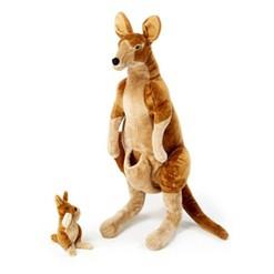 Melissa & Doug Giant Kangaroo and Baby Joey in Pouch - Lifelike Stuffed Animal (nearly 3 feet tall)