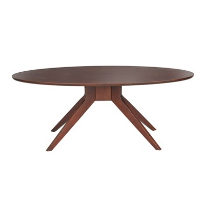Stratos Oval Coffee Table Brown - Angelo Home