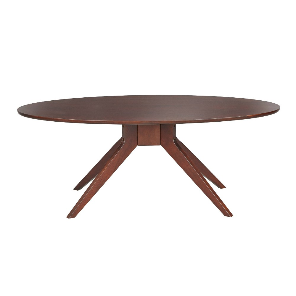 Image of Stratos Oval Coffee Table Brown - Angelo Home