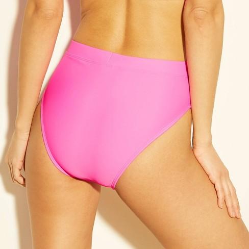 6e00f6e8712f Women's High Leg High Waist Bikini Bottom - Xhilaration™ Pink : Target