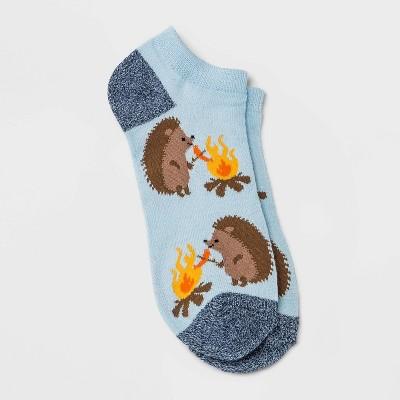Women's Camping Hedgehogs Low Cut Socks - Xhilaration™ Light Blue 4-10