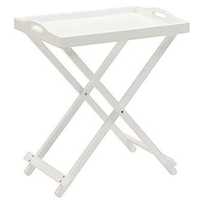 Folding Tray Table - White - Convenience Concepts