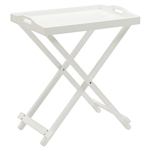 Astounding Folding Tray Table White Convenience Concepts Beutiful Home Inspiration Semekurdistantinfo