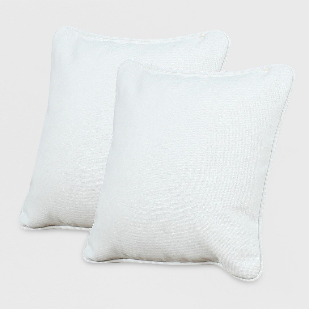 Image of Rolston 2pk Outdoor Accent Pillows Linen - Grand Basket