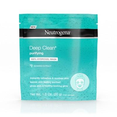 Neutrogena Deep Clean Purifying Hydrating 100% Hydrogel Face Mask - 1.0oz