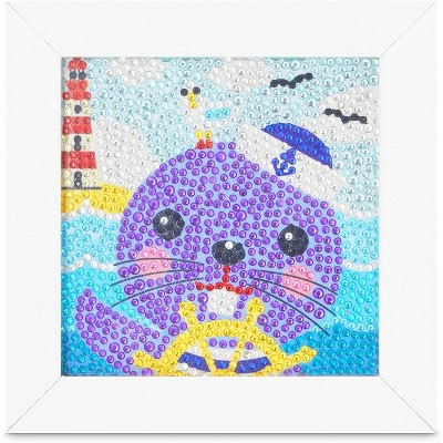 """Bright Creations Sea Otter 5D Diamond Painting Kits with Frame, DIY Arts and Crafts Home Wall Decor for Kids, 6"""" x 6"""""""