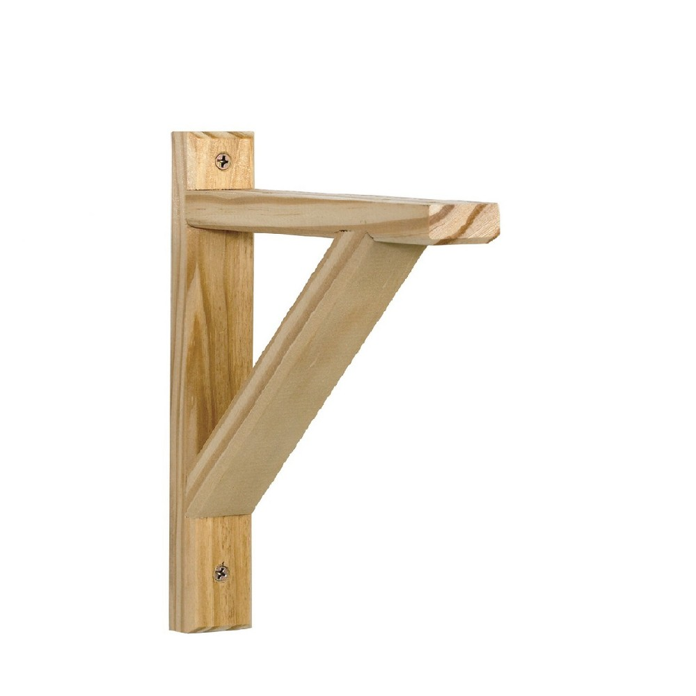 Image of Wooden Bracket 6.5 X 5 X 1.25'' - Natural
