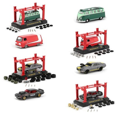 Model Kit 4 piece Car Set Release 26 1/64 Diecast Model Cars by M2 Machines