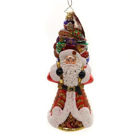 "Christopher Radko 8.0"" It Ain't Heavy Santa Bag Ornaments - image 1 of 2"