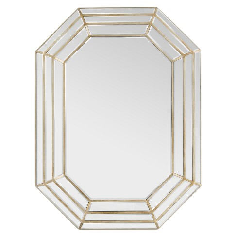 Caley Decorative Wall Mirror Champagne - Surya - image 1 of 1