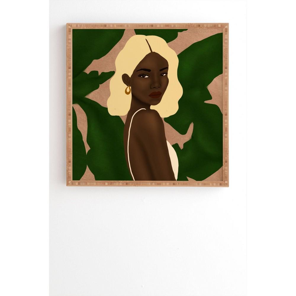 30 34 X 30 34 Nawaalillustrations Blonde Framed Wall Art Bamboo Deny Designs