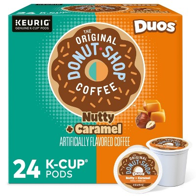 The Original Donut Shop Duos Nutty + Caramel Keurig Single-Serve K-Cup Pods, Medium Roast Coffee - 24ct