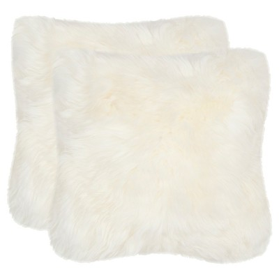 White Artic Fox Throw Pillow - Safavieh®