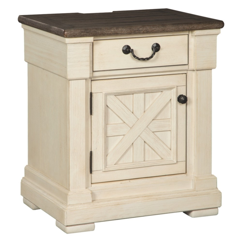 Bolanburg One Drawer Nightstand Antique White - Signature Design by Ashley