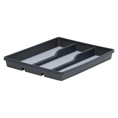 3-Compartment Flatware Organizer Gray - Room Essentials™