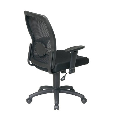 Screen Back Mesh Seat Chair Black - OSP Home Furnishings