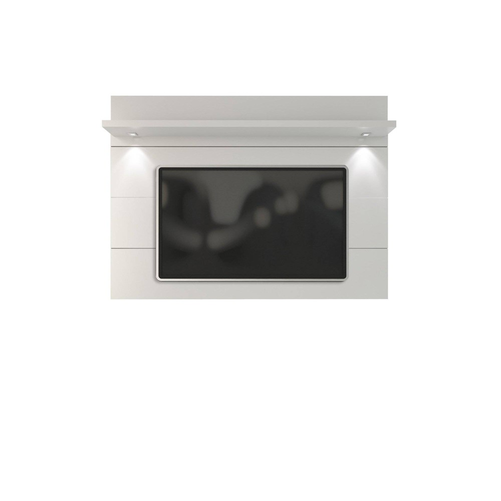 Cabrini Floating Wall TV Panel 2.2 Gloss White - Manhattan Comfort