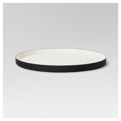 Round Enameled Tray - White/Black - Project 62™