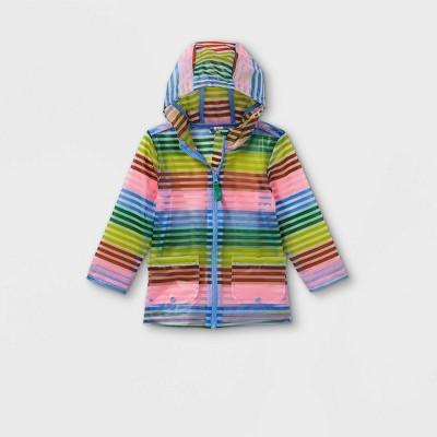 Toddler Girls' Striped Rain Jacket - Cat & Jack™