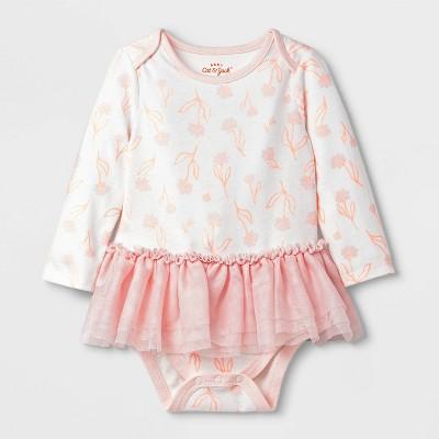 Baby Girls' Floral Print Tutu Bodysuit - Cat & Jack™ Pink 3-6M