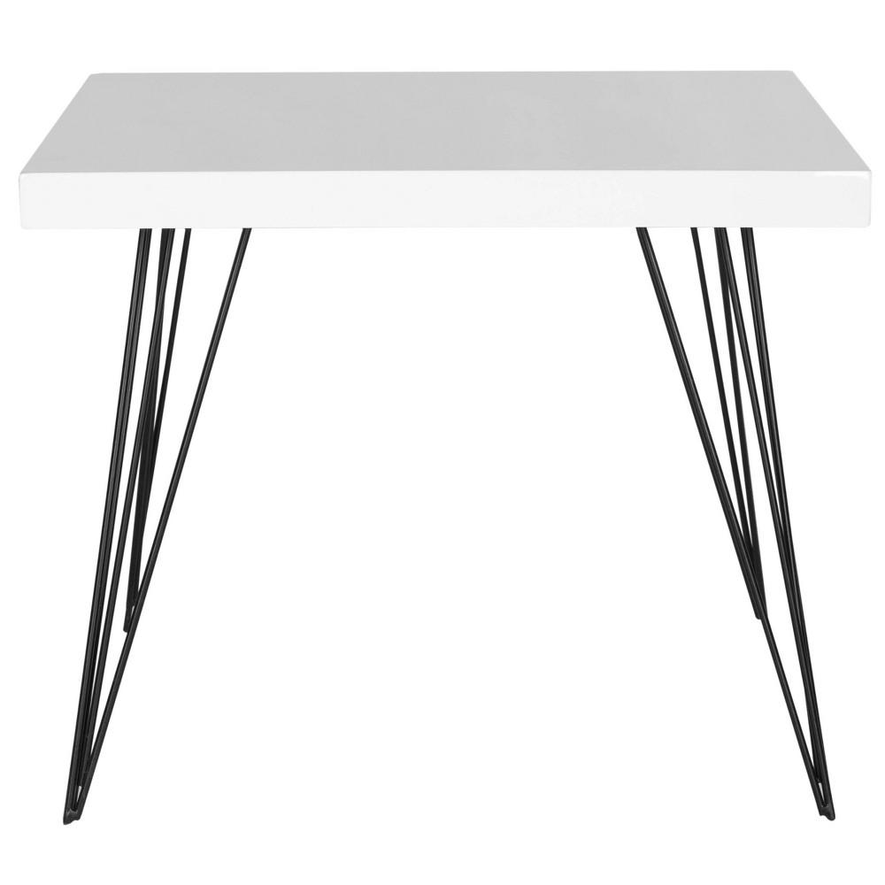 Wolcott Square Coffee Table - White - Safavieh, Black White