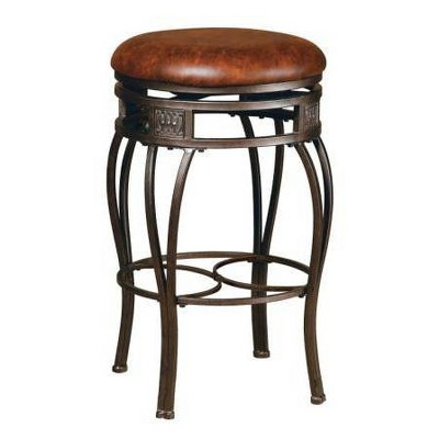 "30"" Montello Backless Swivel Barstool Bronze/Brown - Hillsdale Furniture"