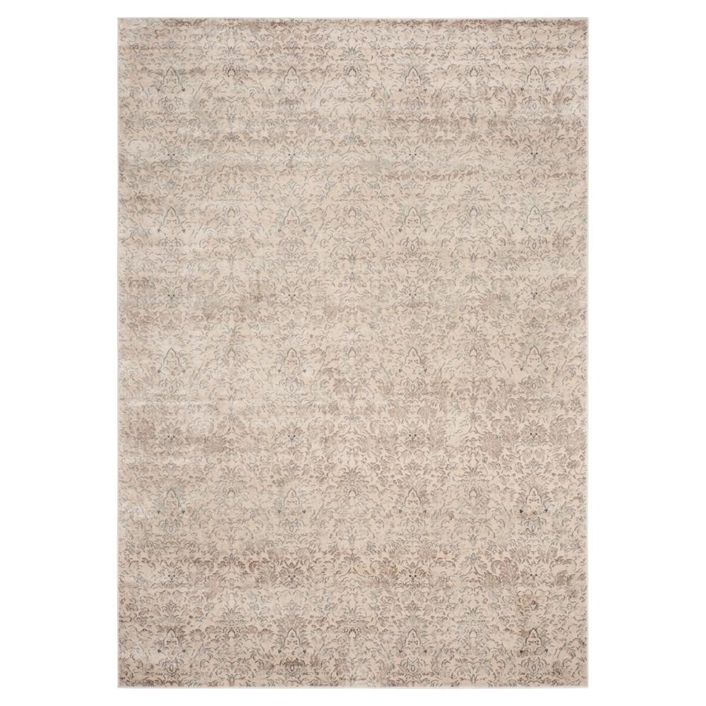 8'X11' Ombre Design Area Rug Ivory/Gray - Safavieh, White Gray
