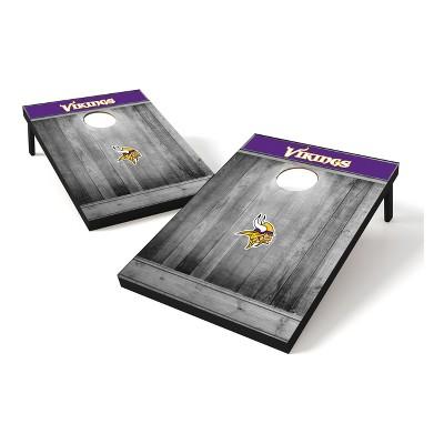 Minnesota Vikings Wild Sports 2x3 Rustic Wooden Plaque Gray Wash Tailgate Toss