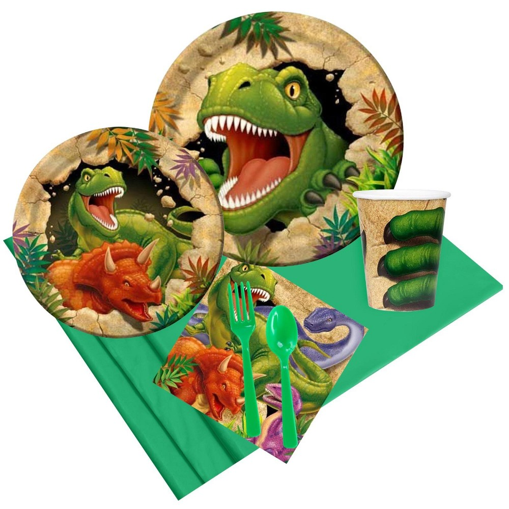 8ct Dinosaur Adventure Party Pack, Multi-Colored