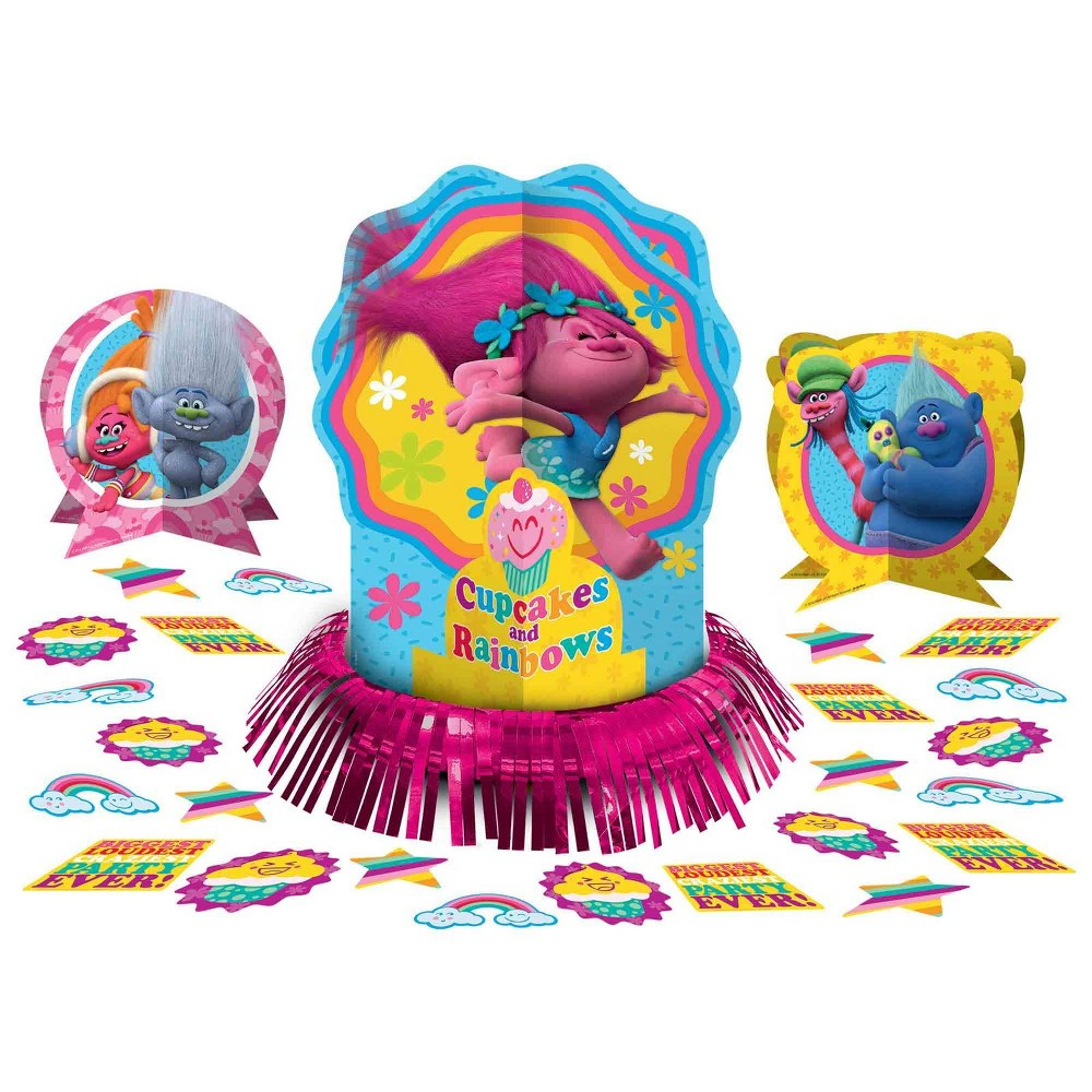 Trolls Table Decor kit, Multi-Colored