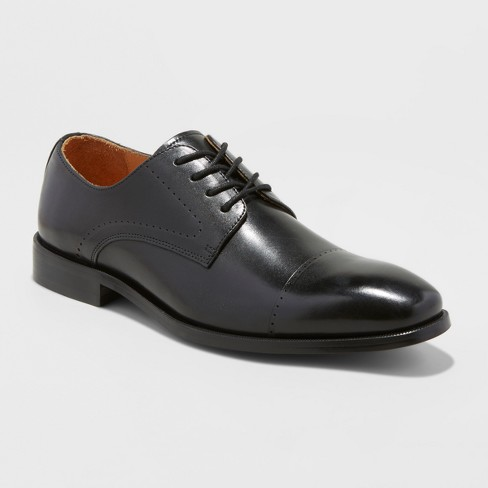 Men's Leather Oxford Dress Shoes - Goodfellow & Co™ Black - image 1 of 3