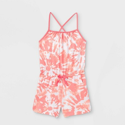 Girls' Printed Knit Sleeveless Romper - Cat & Jack™