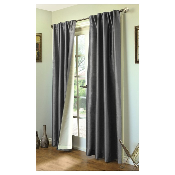 "Ming Lined Back Tab/Pocket Top Curtain Panel - Misty (104x95"") - image 1 of 1"