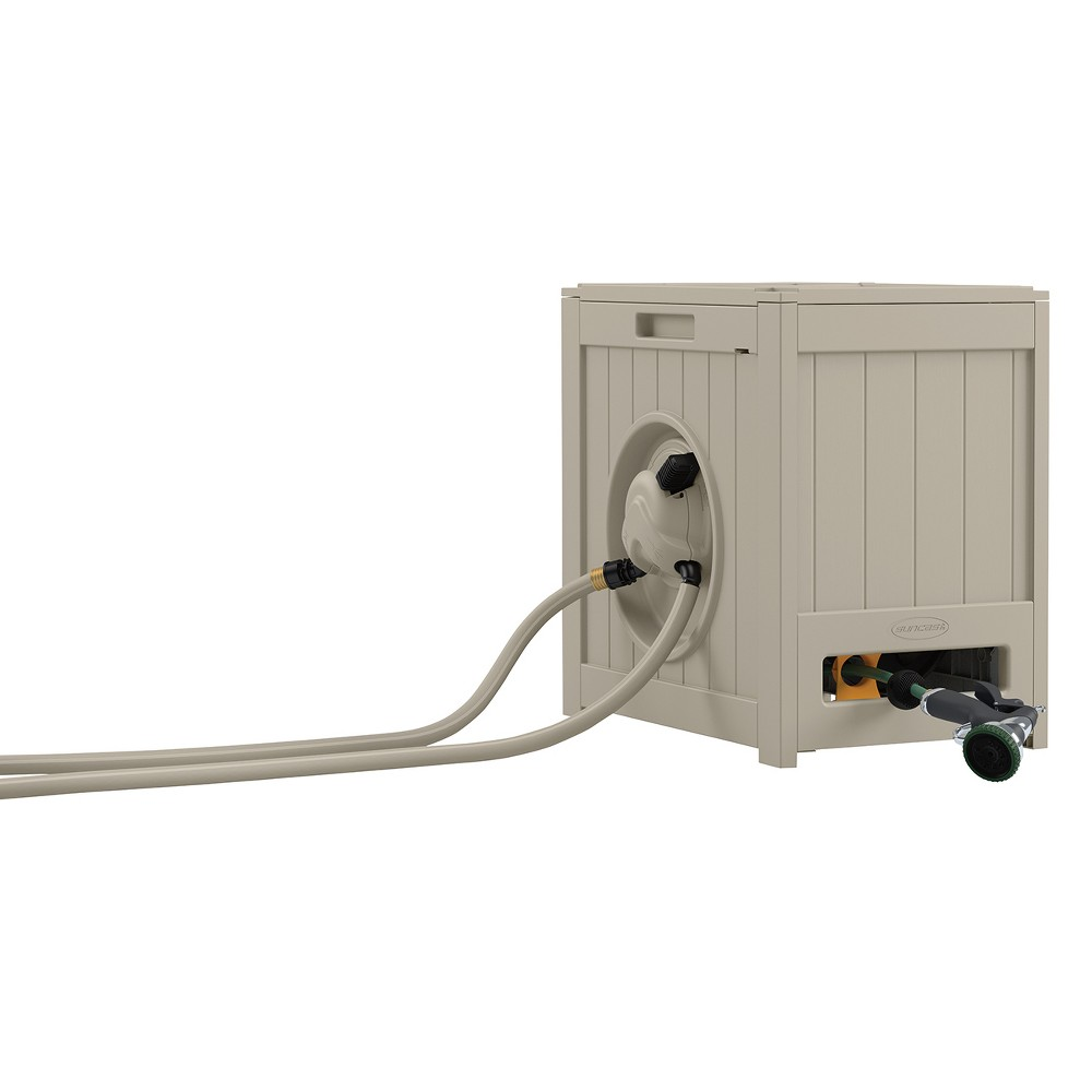 Image of Hideaway Hose Reel 125' - Taupe - Suncast