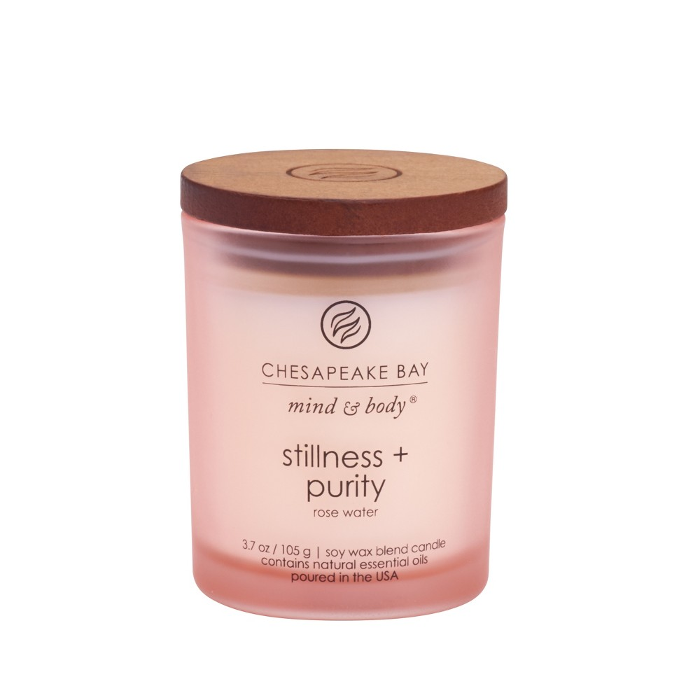 Image of 3.7oz Small Jar Candle Stillness & Purity - Mind And Body By Chesapeake Bay Candle, Pink