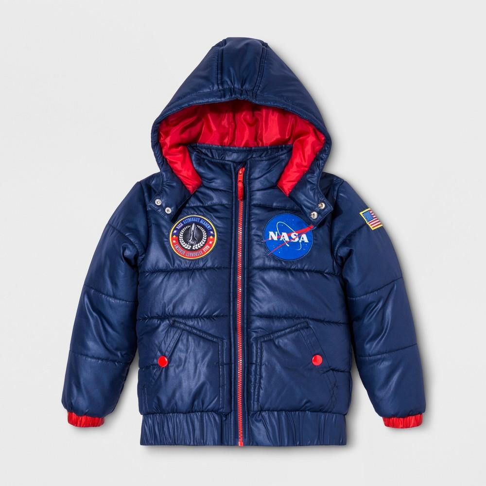 Boys' Nasa Puffer Jacket - Blue 6